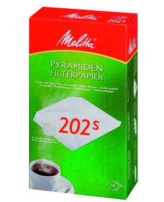 Kaffefilter, pyramide hvid, 202S