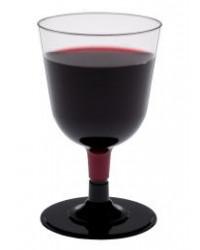 Rødvinsglas på sort fod 20 cl.
