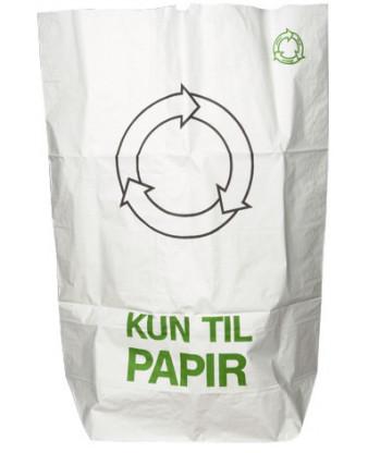 Papirsæk Hvid 70x110cm, 110 liter