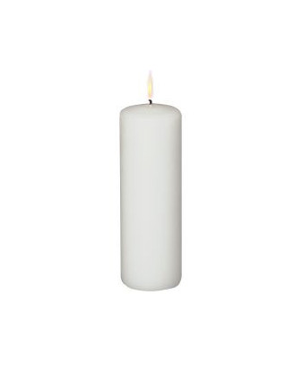 Bloklys 18 x 6 cm, Hvid