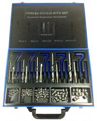 Gevindreparationssæt 130 dele 5-12 mm