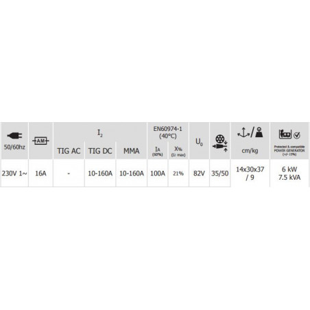 GYS TIG 168DC Uden regulator